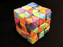 Origami Cube by lucky-m3
