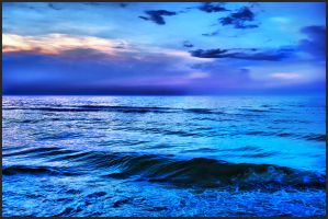 Blue sunset by Uncka