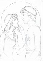 my version of hercules and meg by Fxhobbit