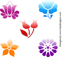 Web 2.0 style flowers by tinydesigner