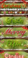 Christmas Photoshop Styles V2 by KoolGfx