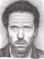 Dr House Pencil Portrait Art by moggo23