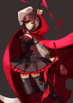 red like roses rwby fan art by riesoleil