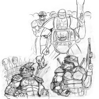 TMNT doodles by Flick-the-Thief
