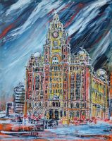 The Liver Building by LauraHolArt