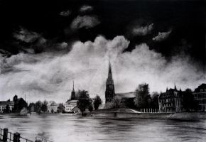 Across a River in Charcoal by SurpassingSolitude