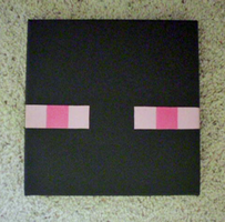 Enderman Stencil on Canvas by OEmilyThePenguinO