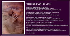 Reaching Out For Love by VisualPoetress