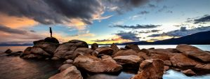 Pondering the Evening Sky at Tahoe by sellsworth