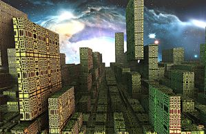New City Concept by DorianoArt