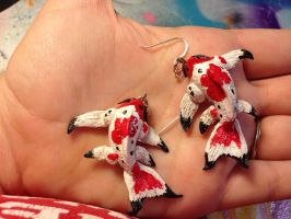 Butterfly Koi Earrings by omfgitsbutter