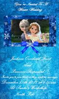 Jack Frost and Rapunzel's Wedding Invitation by DarkMousyxKagome