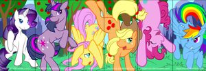 My Little Pony: Frienship is Magic Bookmarks by Jagarnot