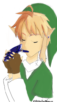 Link (sketch)- Ocarina of Time by RechainYourMemories