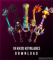 KH3D Keyblades Download by redRevolutionnaire