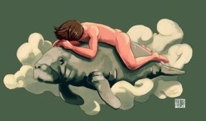 Manatee Dreaming by tohdaryl