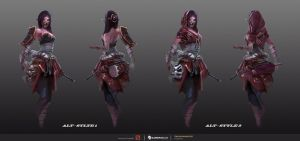 Templar Assassin Concept#2 - Lunar Oni by TrungTH