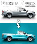 Pickup Truck Mock-up by feketeandreimihai