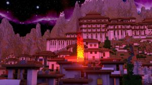 Burning Village (Fire Test) - Night Time Angle by KingFromHatena