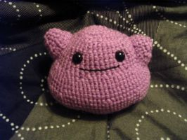 Ditto Amigurumi Custom Plush by Lunarchik13