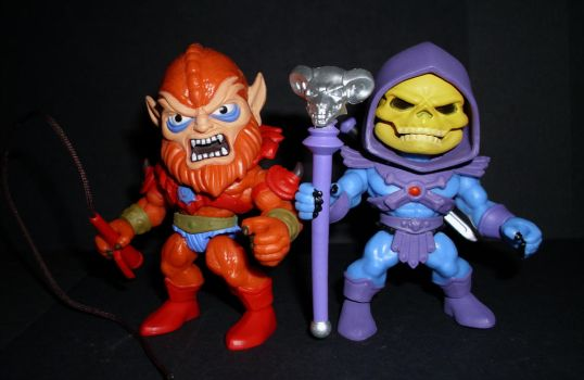 Loyal Subjects - Beastman and Skeletor by CyberDrone2-0