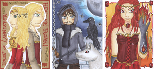 ACEO-Set - Game of Thrones by Himmelsblau