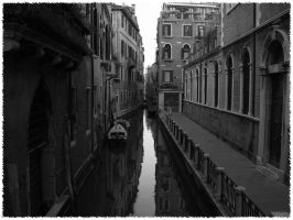 Venice N. 1 Black and White by AjeZ