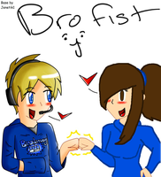 Danny and Pewds! [Brofist!} by RubytheCat12