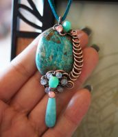 Chrysocolla Pendant by CrysallisCreations