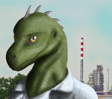 Scaly face of industry by CordylusTheLizard