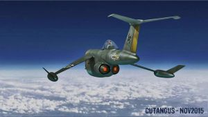 Stratospheric flight of the Luftwaffe's motorjets by CUTANGUS