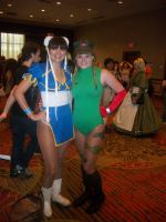 Akon '11 - Chun-Li and Cammy by TexConChaser