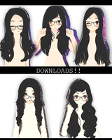 August! Sims3HairSETDL! by iinoone