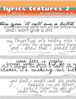 Lyrics Texture Set 2 by vanityandwax
