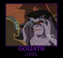 Goliath with goggles by JesusIsMyHomie