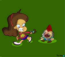 Mabel Versus Gnome by TheSirKnite