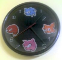 Sonic Clock by StitchPlease