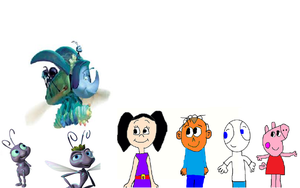 Higor's Gang Meeting Characters from A Bug's Life by mjeddy