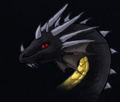 HoMM3 Black Dragon again by ShadowDragon22