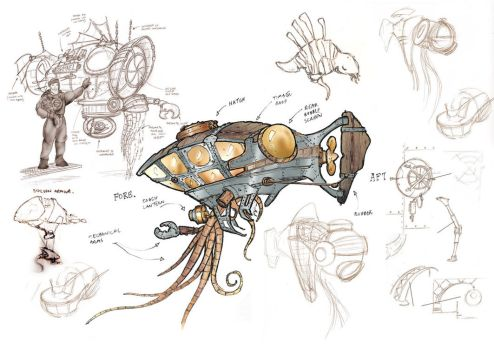 Submersible Sketches by hesir