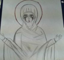 Mary, Mother of God by NokturnaMortum