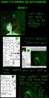 tutorial: how to draw glitching (paint tool sai) by MissRedMoon1