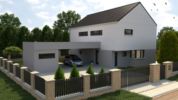 Exterior Modern House by Sabracon