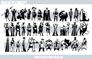 Men of Macbeth Character Thumbnails by Tigerhawk01