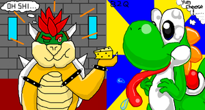 Bowser Yoshi iscribble collab by Bowser2Queen