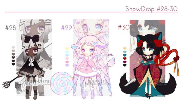 SnowDrop 28-30: AUCTION [CLOSED] by Sueweetie