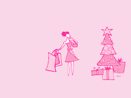 Pink Christmas by saucie