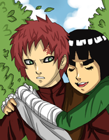 Gaara and Lee by Cocodoo