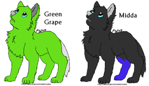 Green Grape and Midda by MapleKennels