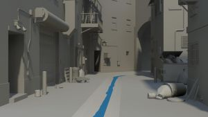Alleyway Wip 1 by bowser3d